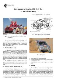pajero rally car specifications and details suspension vehicle