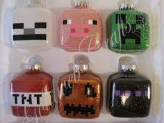 glitter and vinyl minecraft ornament for