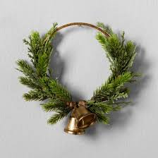 artificial pine wreath with bell 6 hearth with
