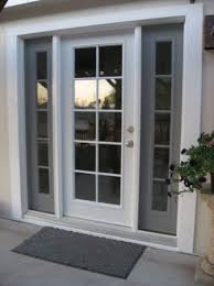 Insulated Patio Doors Single French Style Door With Insulated Glass And Sidelights