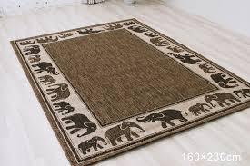 Elephant Outdoor Rug Elephant Area Rug Chene Interiors