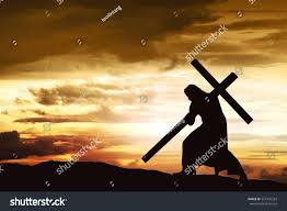 silhouette jesus carry his cross on stock photo 527435329