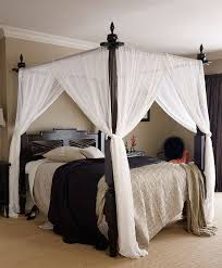 Four Poster Bed Curtains Drapes Keraton Dark Teak Four Poster Wooden Bed Another View Of The