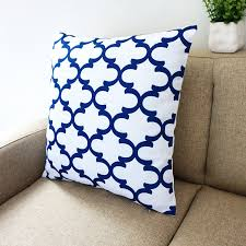 amazon com blue and white howarmer square cotton canvas
