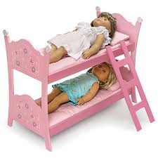 Badger Basket Doll Bunk Bed With Ladder Blossoms And Butterflies - Dolls bunk bed