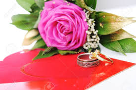 love rings pink images Love rose for lover on white with affiance marriage rings jpg