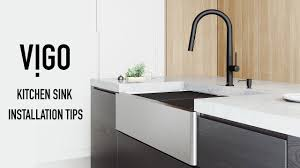how to install an apron sink in an existing cabinet vigo farmhouse kitchen sink installation tips