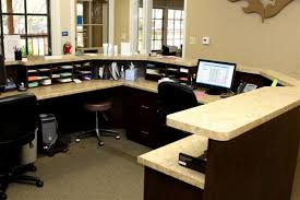 Medical Office Reception Desk Custom Kitchenettes Pantries By Valet Custom Cabinets U0026 Closets