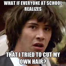 How Do I Create My Own Meme - what if everyone at school realizes that i tried to cut my own hair
