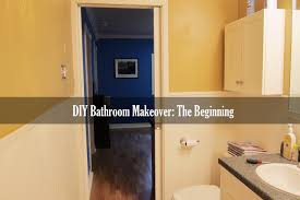 diy guest bathroom makeover the beginnings youtube