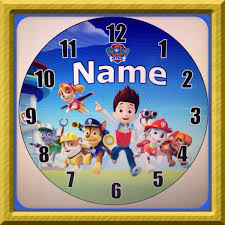 personalized paw patrol inspired wall clock by dajshop on etsy