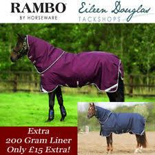 Rambo Lightweight Turnout Rug Rambo Duo Rugs Ebay