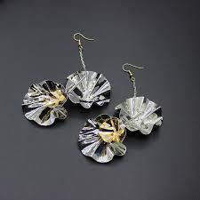 ear sense earrings 2017 korean design sense of color metal flower ear hook
