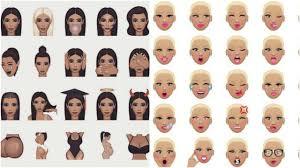 amber rose u0027s muvamoji vs kim kardashian u0027s kimoji how their emoji