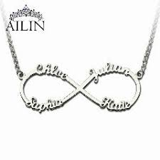 s necklace with names personalized infinity necklace with names silver infinity pendant
