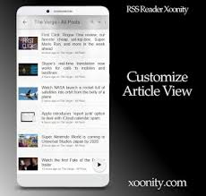 rss reader android rss reader xoonity rss feed reader android apps on