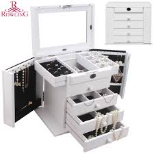 Jewelry Cabinet Mirror Online Get Cheap Jewelry Armoire White Aliexpress Com Alibaba Group