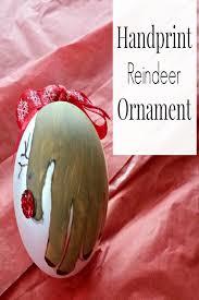 handprint reindeer ornament craft