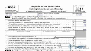 Macrs Depreciation Tables by Learn How To Fill The Form 4562 Depreciation And Amortization