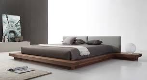 Walnut Bed Frame Opal Modern Walnut Grey Platform Bed