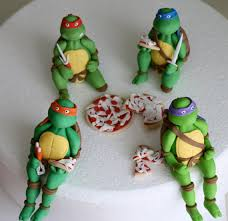 tmnt cake topper fondant mutant turtles cake topper set