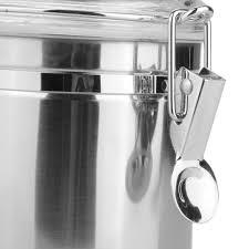 vivreal storage jars stainless steel tea coffee sugar canisters