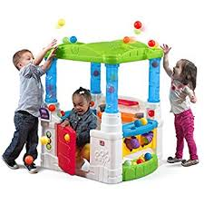 step2 busy ball play table amazon com step2 busy ball table and wonderball fun house combo