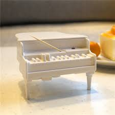 novelty toothpick dispenser creative piano toothpick dispenser with sterilizer box automatic uv