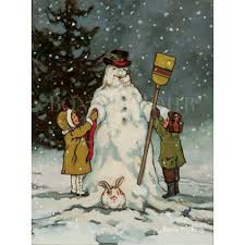 frosty a set of cards by artist bonnie mohr featuring