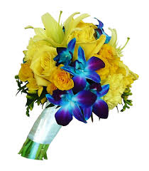 wedding flowers halifax yellow and blue orchid bridesmaid bouquet 125 00 send flowers