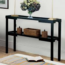 narrow metal console table echelon narrow console table crate and barrel in thin inspirations 0