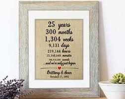 25th anniversary gifts for parents anniversary gift for parents etsy