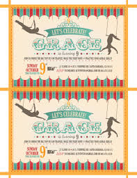 custom printable circus trapeze birthday invitations from