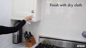 how to clean kitchen cabinets youtube