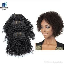 cheap 8 inch afro curly unprocessed human