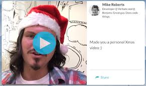say merry happy new year to your linkedin with bonjoro