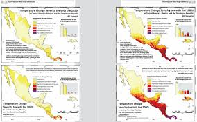 Mexico And Central America Map by Temperature Map Of North America Available As Poster Print Or As