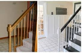Refinish Banister Stair Makeover Refinishing Banister Stair Parts Blog