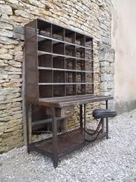 le de bureau ancienne bureau casier tri postal 125 25 cases rouille 1950 mettetal
