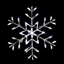 Lighted Snowflakes Outdoor by Indoor And Outdoor Lighted Decorations