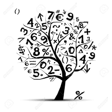 Tree Symbols Art Tree With Math Symbols For Your Design Royalty Free Cliparts