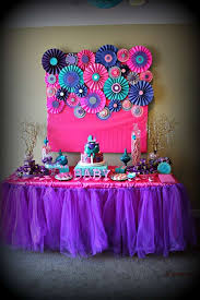 baby shower ideas for pink purple turquoise it s a girl baby shower party ideas photo