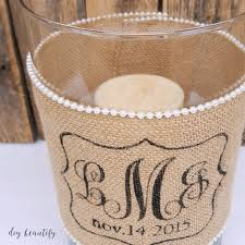 unique monogrammed wedding gifts diy idea for custom wedding gifts candle holder with burlap
