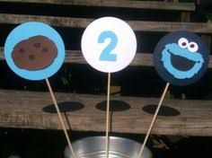 cookie monster centerpiece set of 6 birthday ideas by the