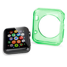 apple watch green light olixar soft protective apple watch 3 2 1 case 42mm green clear