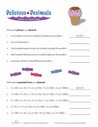 writing decimals in expanded form worksheet education com