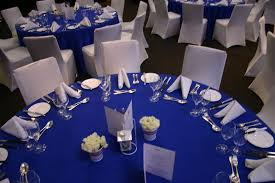 silver and royal blue wedding decorations this is the theme we