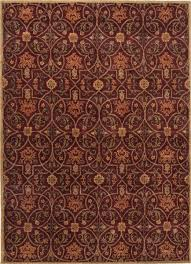 Orange And Brown Area Rugs Poeme Calais Hand Tufted Arts And Craft Pattern Wool Red Orange
