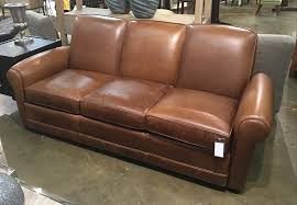 distressed leather sofa by leather craft 37h x 85w x 40d