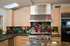 colorful kitchen backsplashes colorful kitchens glass mosaic backsplash kitchen los angeles